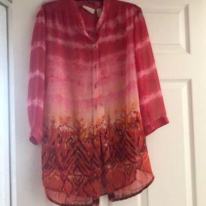 Multi color sheer blouse
